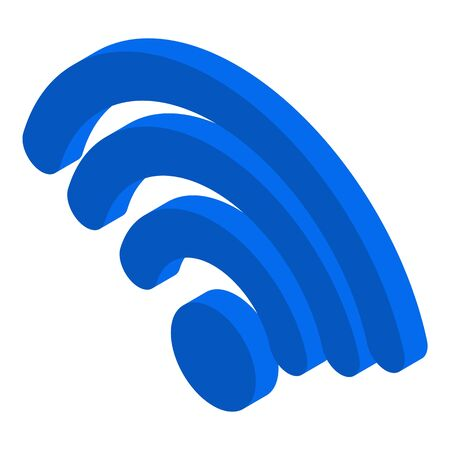 Wifi icon, isometric style Ilustración de vector