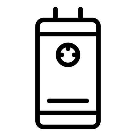 Home boiler icon, outline style Illustration