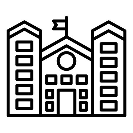 University building icon, outline style