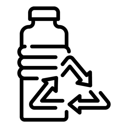 Recycling bottle icon. Outline recycling bottle vector icon for web design isolated on white background Ilustrace