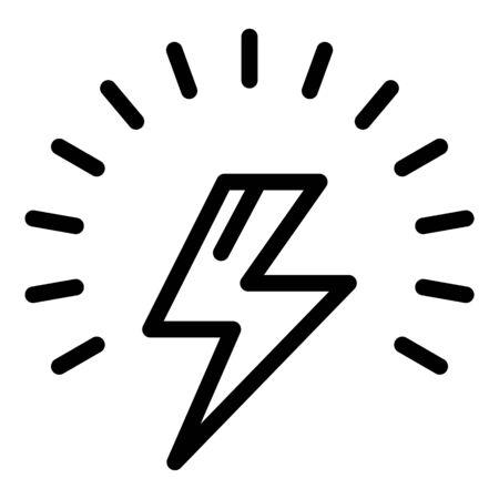 Lightning bolt icon. Outline lightning bolt vector icon for web design isolated on white background Illusztráció