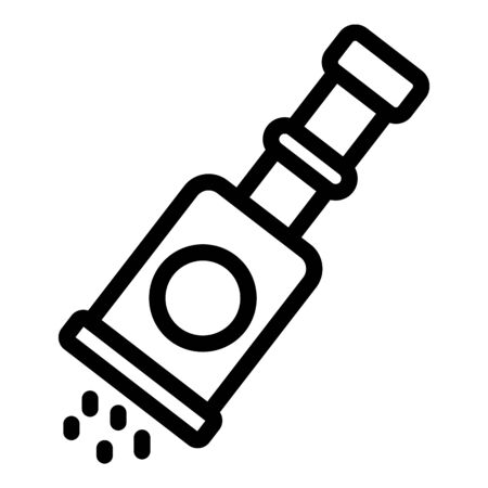 Condiment pot icon. Outline condiment pot vector icon for web design isolated on white background