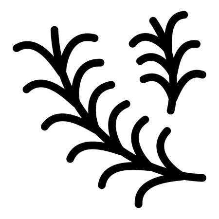 Rosemary icon. Outline rosemary vector icon for web design isolated on white background Illusztráció