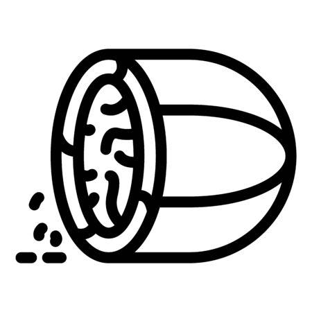 Nutmeg icon. Outline nutmeg vector icon for web design isolated on white background