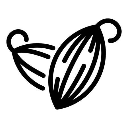 Cardamom icon. Outline cardamom vector icon for web design isolated on white background 向量圖像