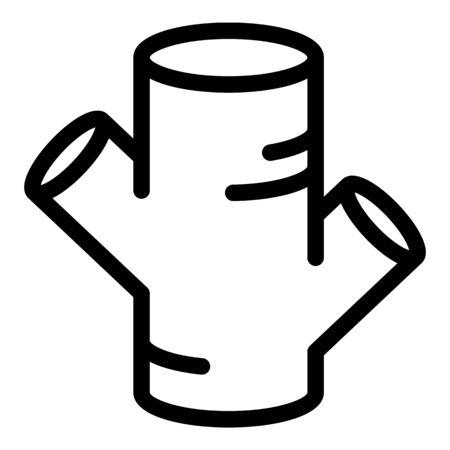 Turmeric icon. Outline turmeric vector icon for web design isolated on white background Illusztráció