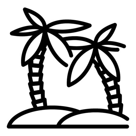 Palm tree icon. Outline palm tree vector icon for web design isolated on white background Stock Illustratie