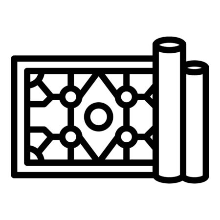 Turkish carpet icon. Outline turkish carpet vector icon for web design isolated on white background Imagens - 133412492