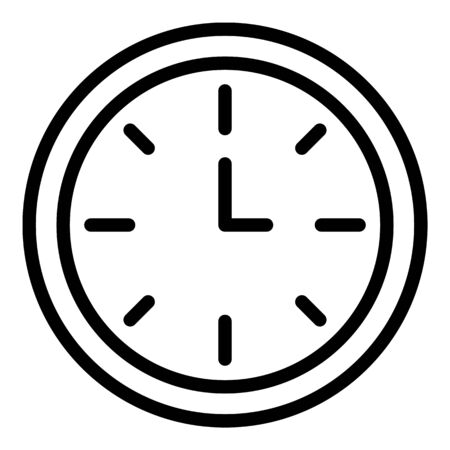 Wall clock icon. Outline wall clock vector icon for web design isolated on white background Standard-Bild - 133412495