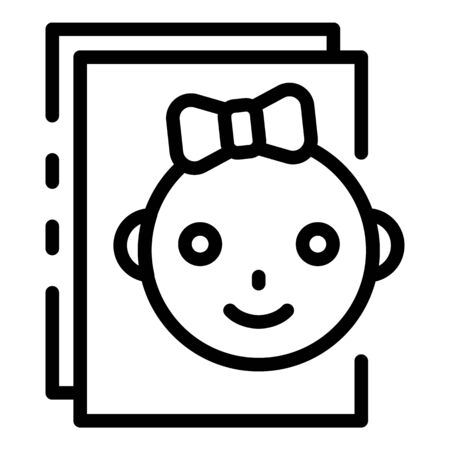 Baby paper icon. Outline baby paper vector icon for web design isolated on white background