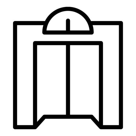 Classic elevator icon, outline style