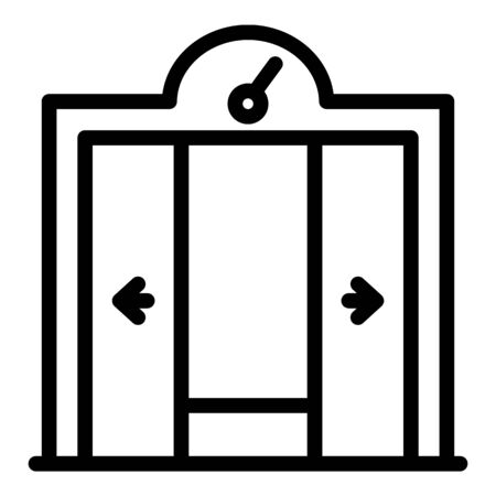 Opening the elevator doors icon, outline style