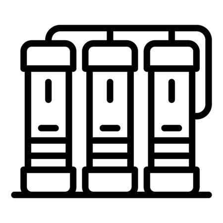 Three servers icon, outline style