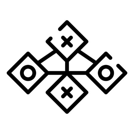 Connect to servers icon, outline style Illustration