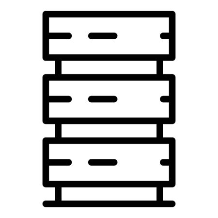 Server tower icon, outline style