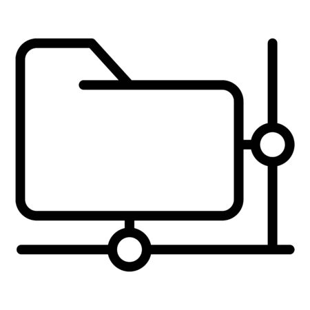Network folder access icon, outline style