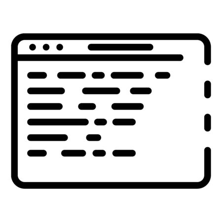 Application code icon, outline style