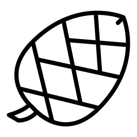 Unripe spruce cone icon, outline style