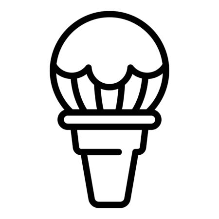 Big ball of ice cream icon, outline style