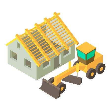 Construction icon. Isometric illustration of construction vector icon for web