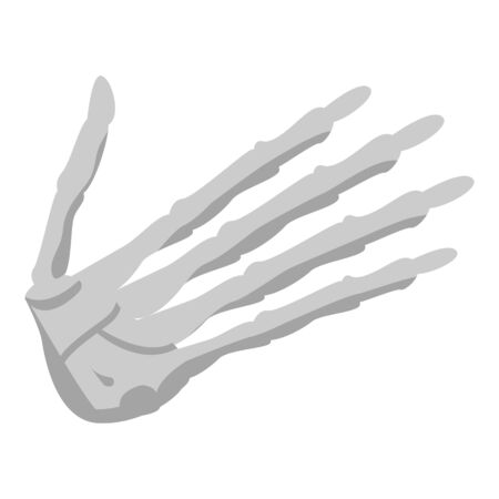 Hand skeleton icon. Isometric of hand skeleton vector icon for web design isolated on white background