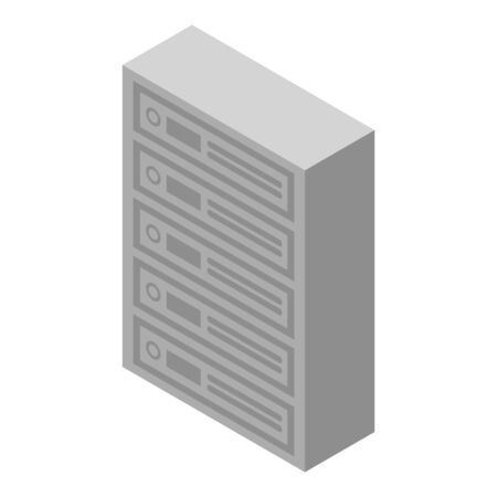 Apartments mailboxes icon. Isometric of apartments mailboxes vector icon for web design isolated on white background