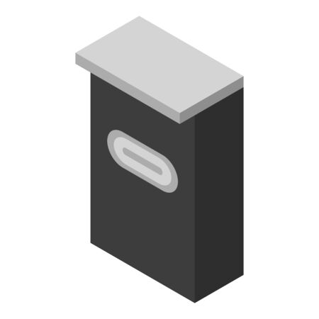 Wall mailbox icon. Isometric of wall mailbox vector icon for web design isolated on white background