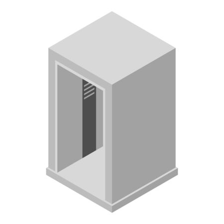 Airport elevator icon. Isometric of airport elevator vector icon for web design isolated on white background