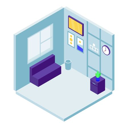Rest room icon. Isometric of rest room vector icon for web design isolated on white background