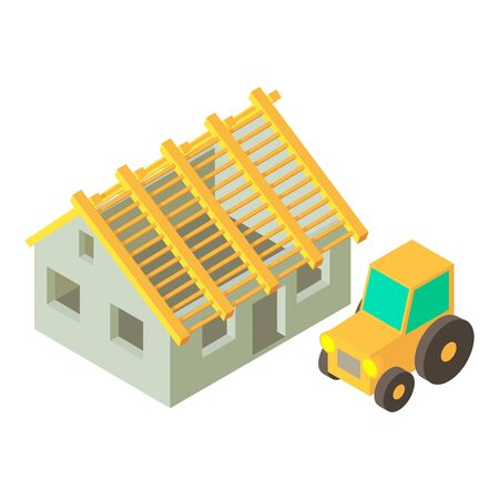 Arable farming icon. Isometric illustration of arable farming vector icon for web