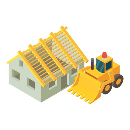 Repair work icon. Isometric illustration of repair work vector icon for web