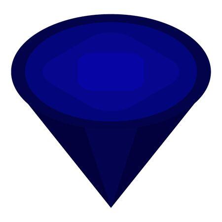 Blue crystal gem icon, isometric style Ilustrace