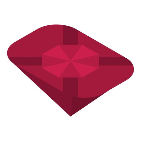 Ruby gemstone icon, isometric style