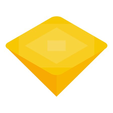 Yellow gemstone icon, isometric style