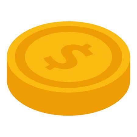 Goldmünzensymbol, isometrischer Stil