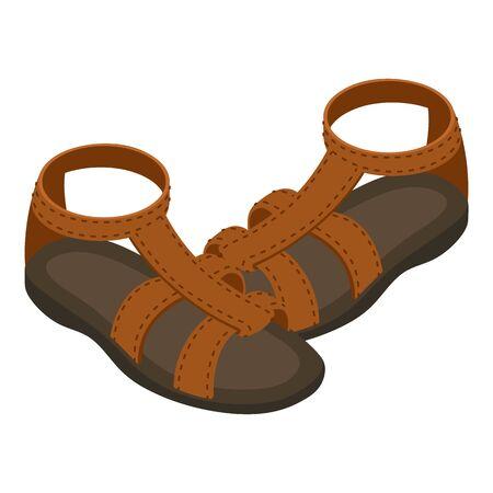 Gladiator-Sandalen-Symbol. Isometrische Illustration der Vektorikone der Gladiatorensandalen für Netz