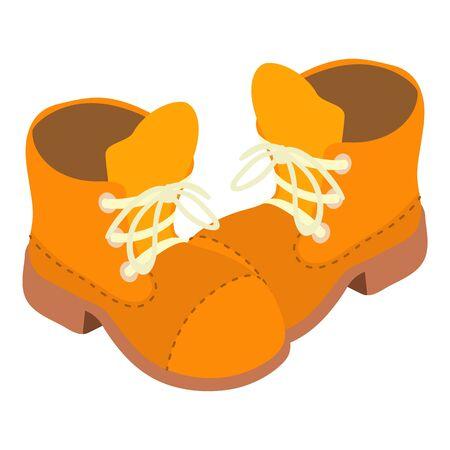 Cartoon shoes icon, isometric style