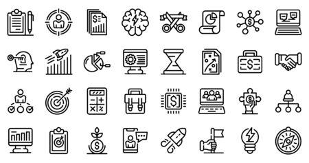 Entrepreneur icons set, outline style Standard-Bild - 134489530