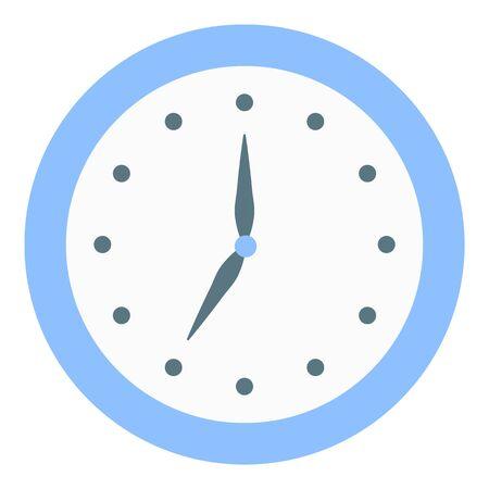 Wall clock icon, flat style Stok Fotoğraf - 134644461