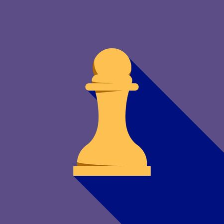 White pawn icon. Flat illustration of white pawn vector icon for web design