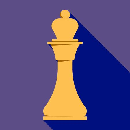 King chess icon, flat style Illustration