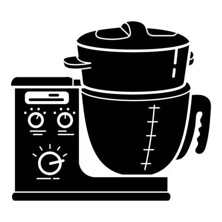 Cook food processor icon, simple style