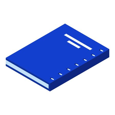 Blue book icon, isometric style