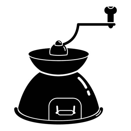 Hand coffee grinder icon, simple style Stock Illustratie