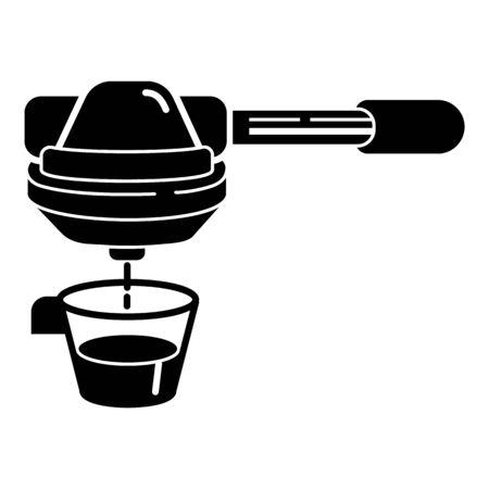 Espresso coffee maker icon, simple style
