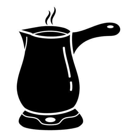 Coffee maker pot icon, simple style