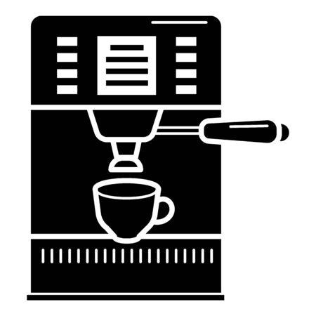 Espresso coffee maker icon, simple style
