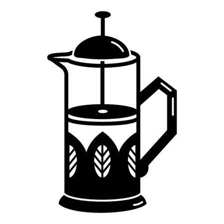 Tea vacuum pot icon, simple style