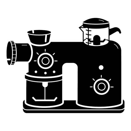 Kitchen food mixer icon, simple style Ilustrace