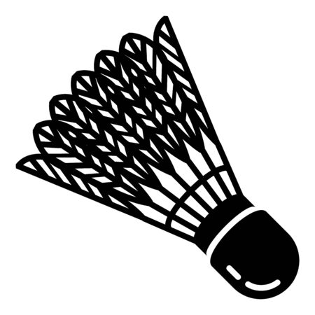 Shuttlecock equipment icon, simple style